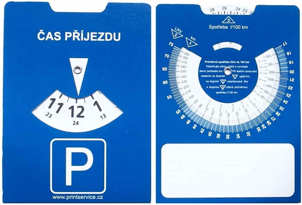 Papírové parkovací hodiny